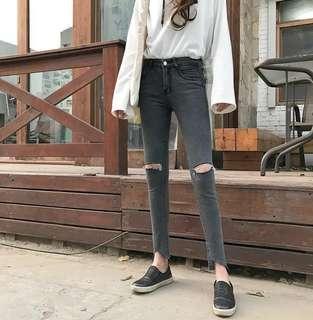 灰色牛仔褲(包郵)