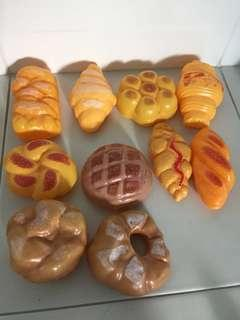 Toy bread and pastries