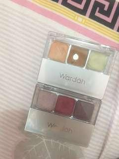 Wardah eyeshadow and double function kit