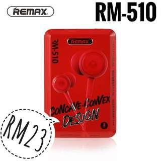 NEW Original Remax RM-510 in-Ear stereo Earphone with microphone (Postage Only)