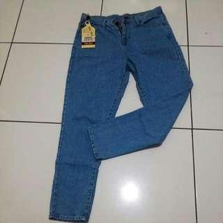 Celana jeans plano boyfren