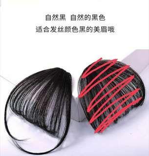 自然黑色假劉海(有鬓角)