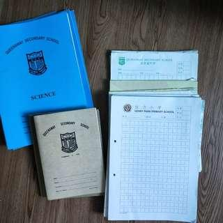 Exercise Books/Chinese Foolscape/Science Books