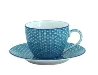 BN in box cup-saucer set. Set of 6