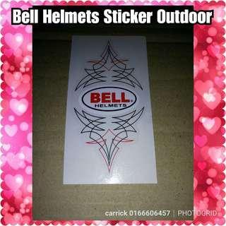 Bell helmets sticker tattoo design