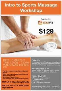 Intro to Sports Massage Workshop