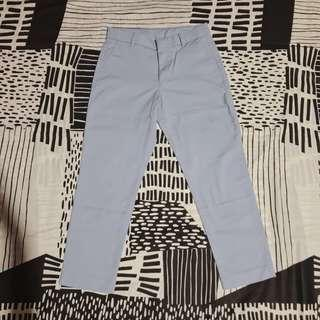Uniqlo/Baby blue/Straight pants/Trousers