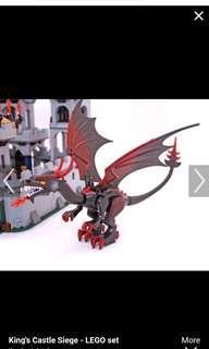 Lego Castle 7094 Black Velvet Dragon