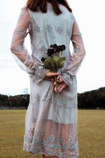🥀Romantic Lace Dress Long Sleeves