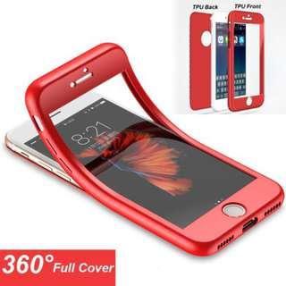 Iphone 6 360 soft case softcase red full protection