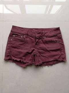 Authentic American Eagle Outfitters Maroon Denim Shorts