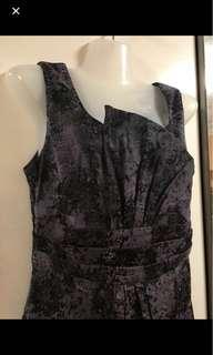 🚚 Purple marble print dress