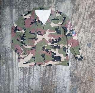 Women coat camo size S