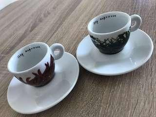 Limited Edition Illy Expresso Cups with Saucers