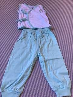 Tiny tummies pajama sets
