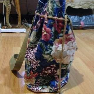 Floral knap sack