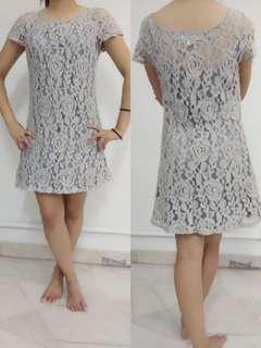 Grey Lace Dress #PRECNY60