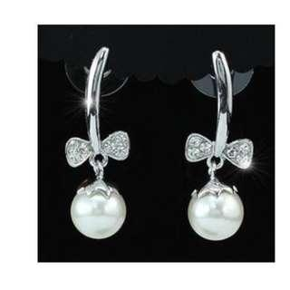 Faux Pearl Dangle Earrings with Free Shipping