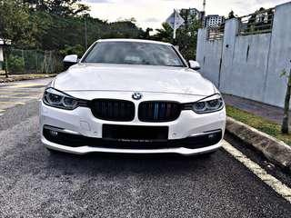 SEWA BELI  BMW F30 318i TWIN TURBO YEAR 2017 MONTHLY RM 2170 BALANCE 5 YEARS ROADTAX FEB 2019 MILEAGE LOW LEATHER SEAT TIPTOP CONDITION  DP KLIK wasap.my/60133524312/f30white