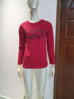 Red long/s blouse