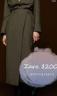 Zara dress 及膝 長裙 半裙