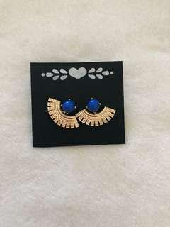 2-PC EARRINGS (BLUE WITH ACCENT)