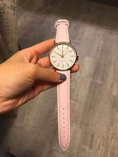 Rose Gold strap watch