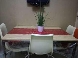 Dining set (table and 3 chairs)