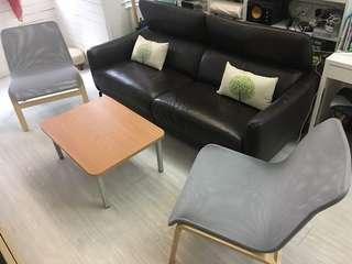 Kuka Sofa Two arm chairs Ikea 梳化/ ikea椅