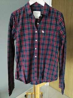 Authentic A&F Abercrombie checkered shirt