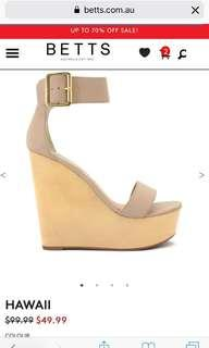 Betts Hawaii Nude Wedges