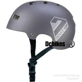🆕! 7iDP Matte Graphite Grey Stealth DJ / Bmx / MTB Dirt Hardshell Helmet                                                 ( Size L/XL 58cm to 61cm )  #Dcbikes