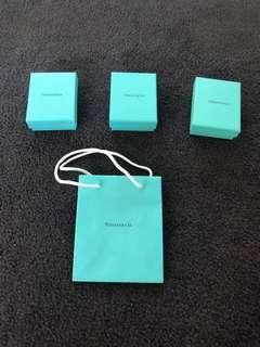 Tiffany boxes and paperbag