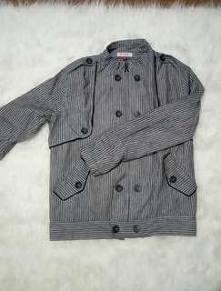 Jacket stripe grey XSML