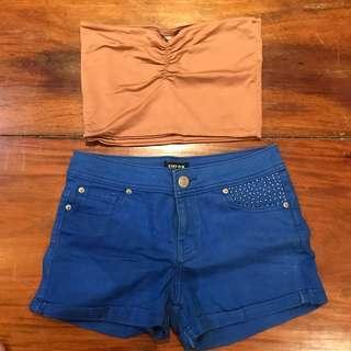 EVERNEW Blue shorts