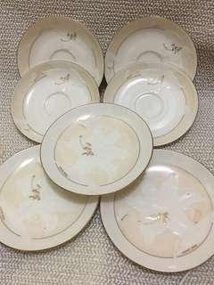 Hanae Mori cake plates and saucers