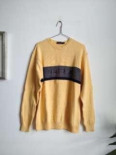 Nautica yellow sweater ~ super warm