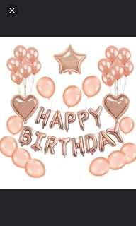 Rose Gold Happy Birthday