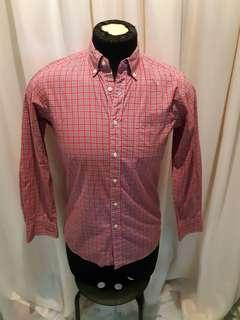 UNIQLO Checkered Shirt Red and White M