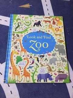Usborne Look and Find Zoo book
