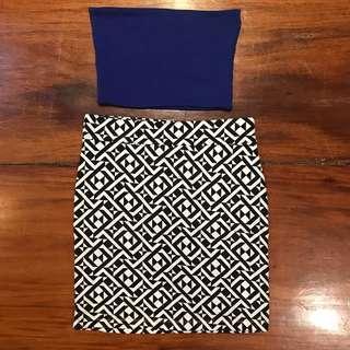 Forever21 B&W skirt
