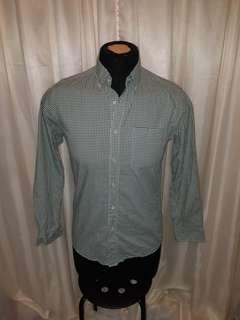 Uniqlo Green and White Checkered Shirt