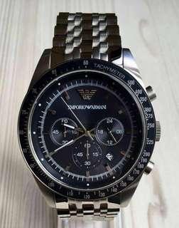 正品Emporio Armani quartz chronograph手錶