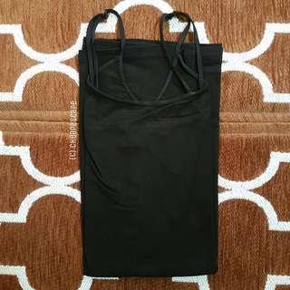 H&M BLACK SPAGHETTI TOP