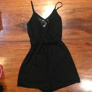 H&M black lace romper