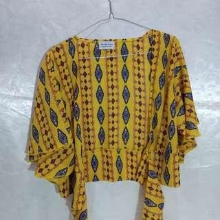 Yellow bohemian rope