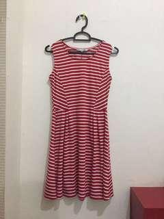 Colorbox Dress Merah Putih Garis / Red White Striped