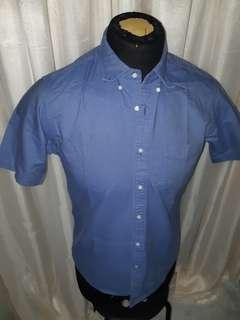 UNIQLO Blue Shirt Slim Fit L