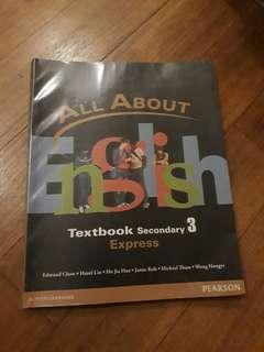 All About English Textbook Sec 3