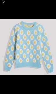 egg print pullover